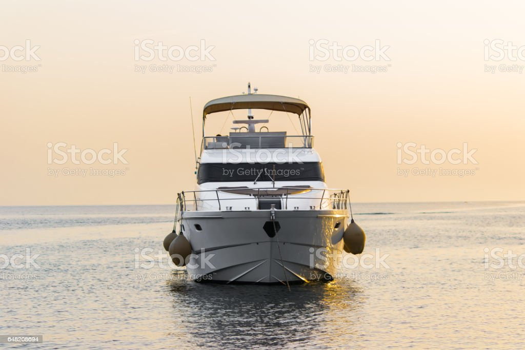 Luxary Boat stock photo