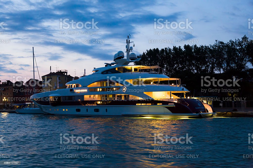 Luxary yacht QUITE ESSENTIA stock photo