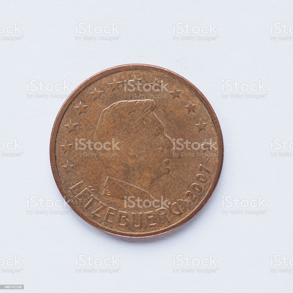 Luxembourg 5 cent coin stock photo