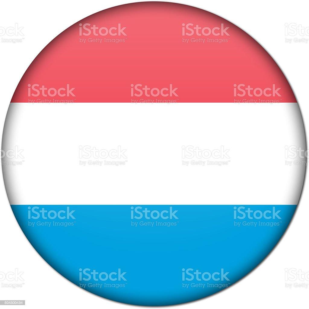 luxembourg badge flag stock photo