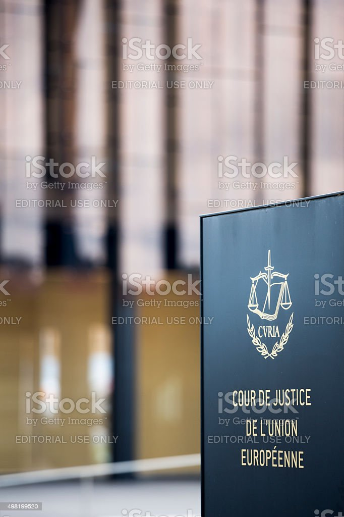 Luxembourg City, European Court Of Justice Building in Kirchberg stock photo