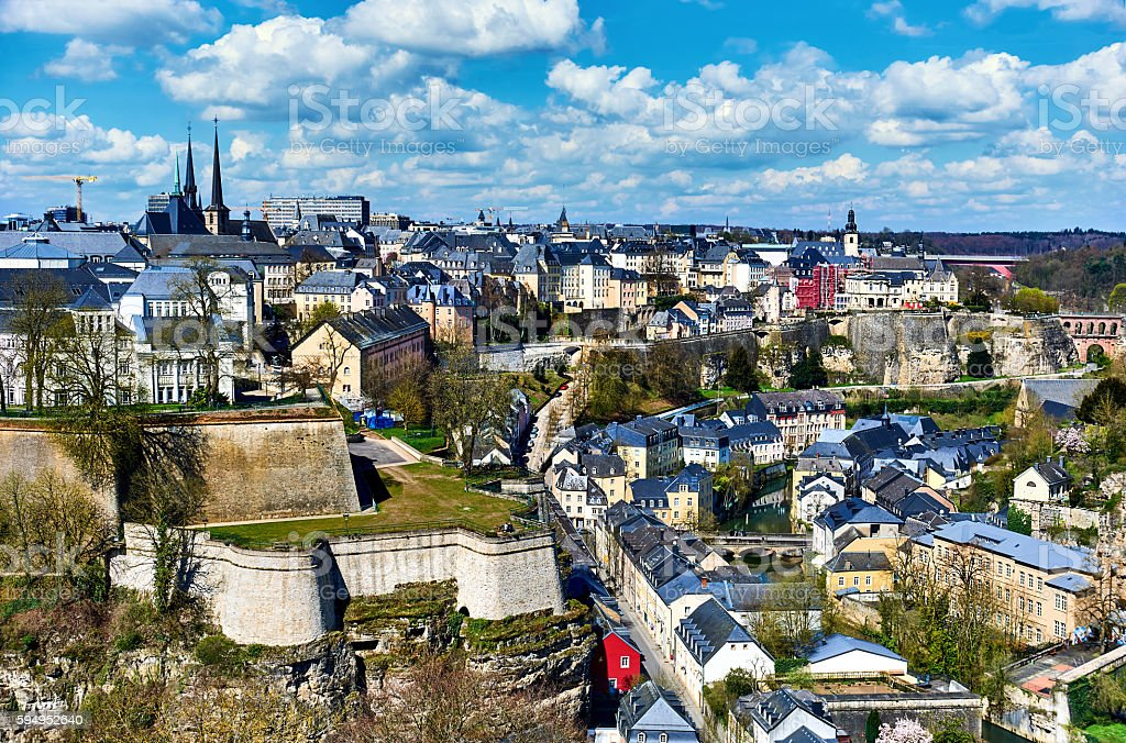 Luxembourg cityscape stock photo