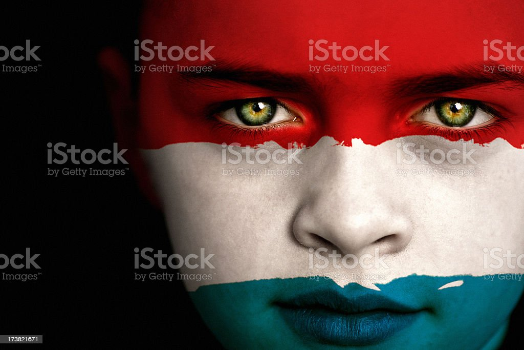 Luxembourg flag boy royalty-free stock photo