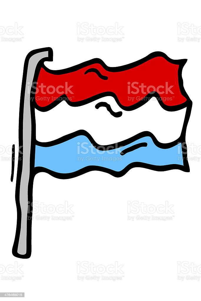 Luxembourg Flag stock photo