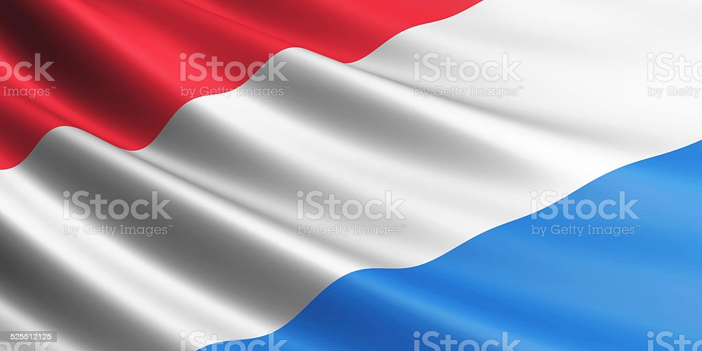 Luxembourg flag. royalty-free stock photo