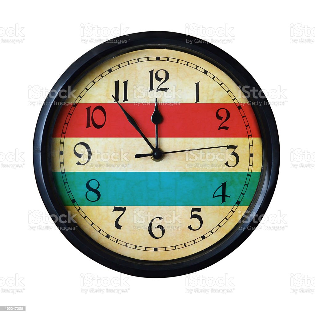 Luxembourg Flag Wall clock - Watch port for same series stock photo