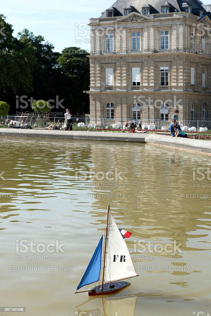Luxembourg Garden in Paris, France stock photo