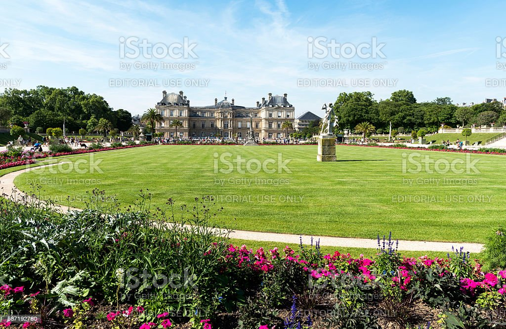 Luxembourg Garden or The Jardin du Luxembourg stock photo