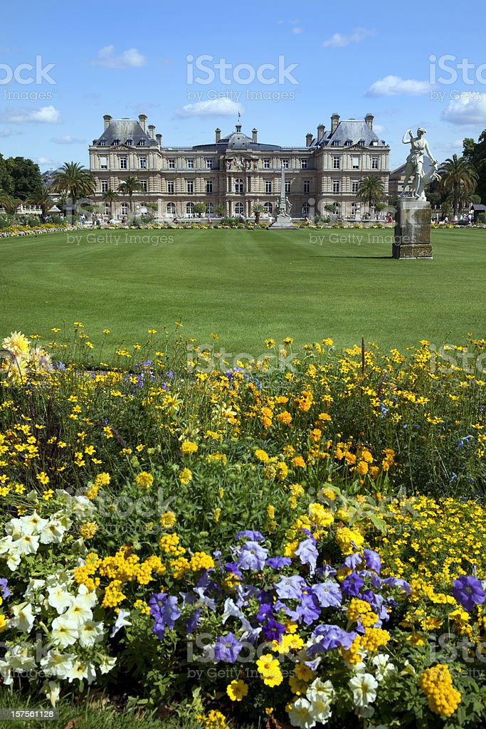 Luxembourg Gardens in Paris France stock photo
