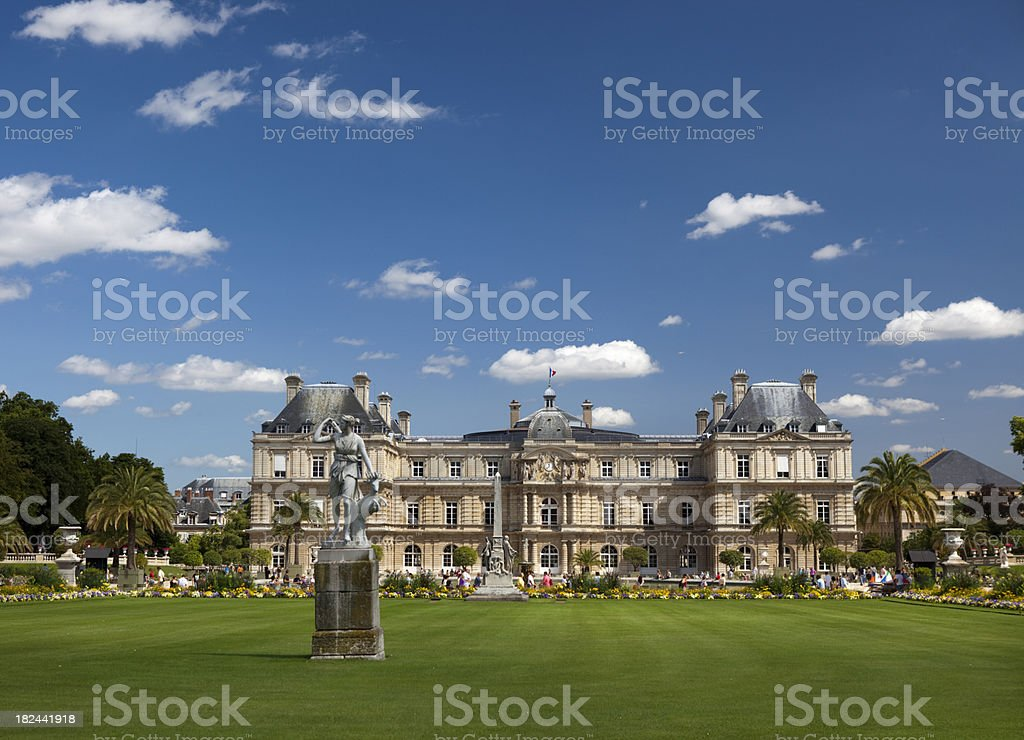 Luxembourg Gardens in Paris France royalty-free stock photo