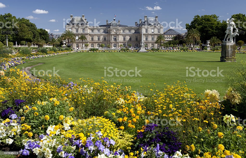 Luxembourg Gardens in Paris stock photo
