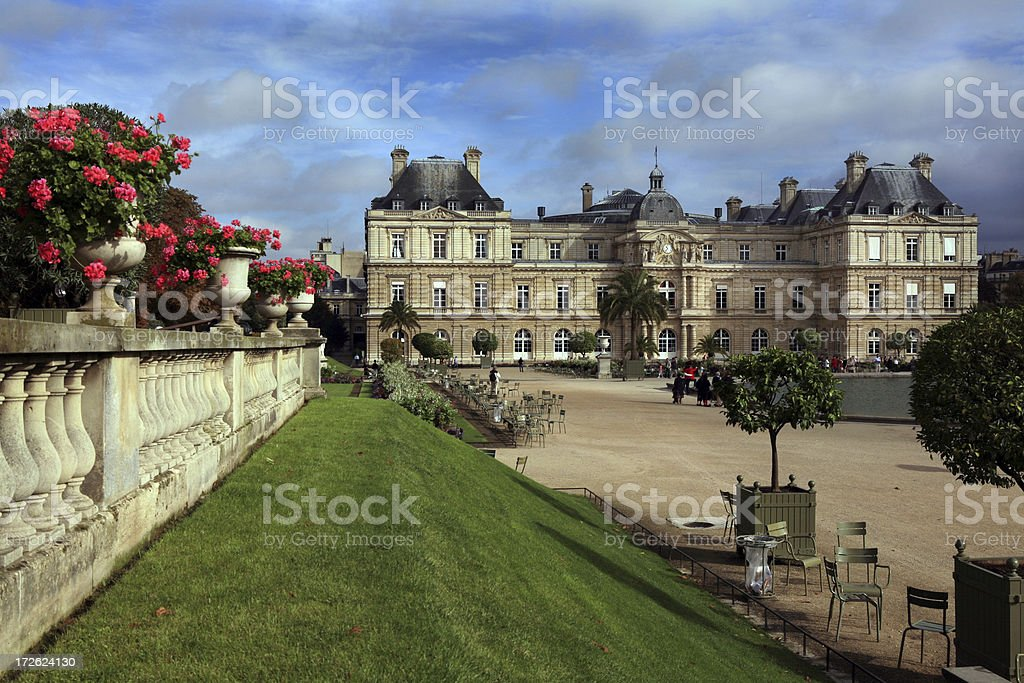 Luxembourg Gardens Paris, France stock photo