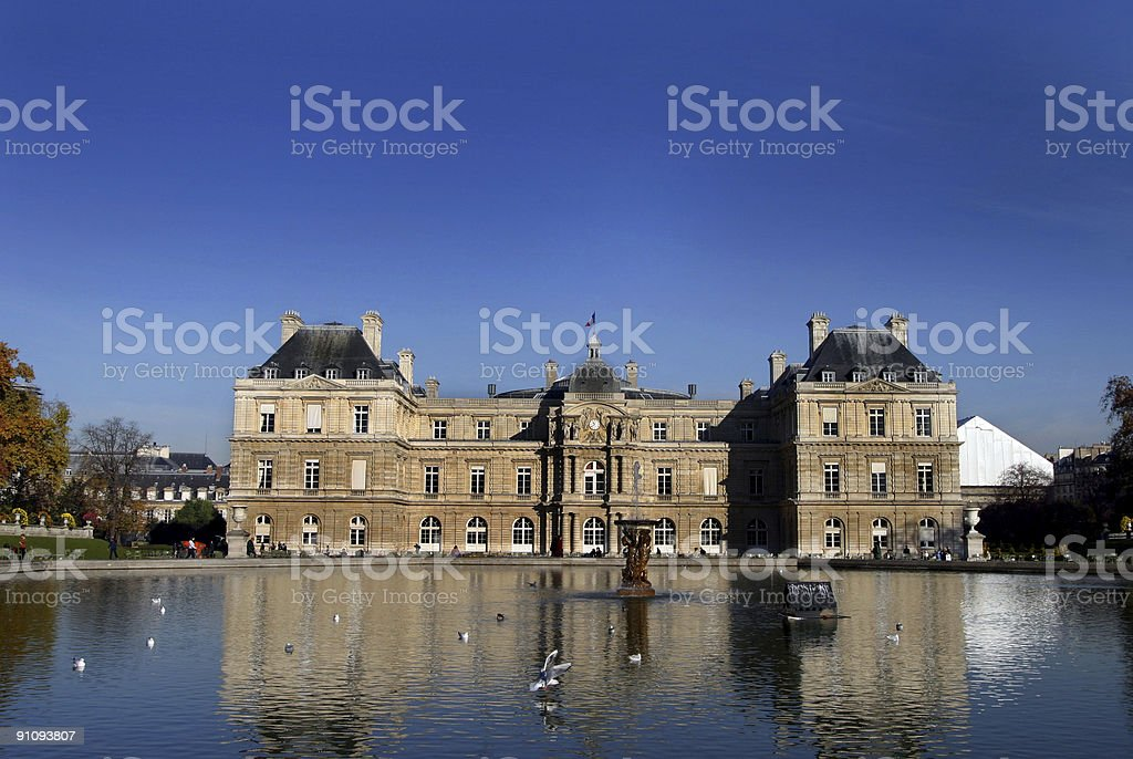 Luxembourg Gardens Paris France stock photo
