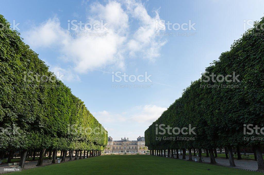 Luxembourg gardens, Paris stock photo