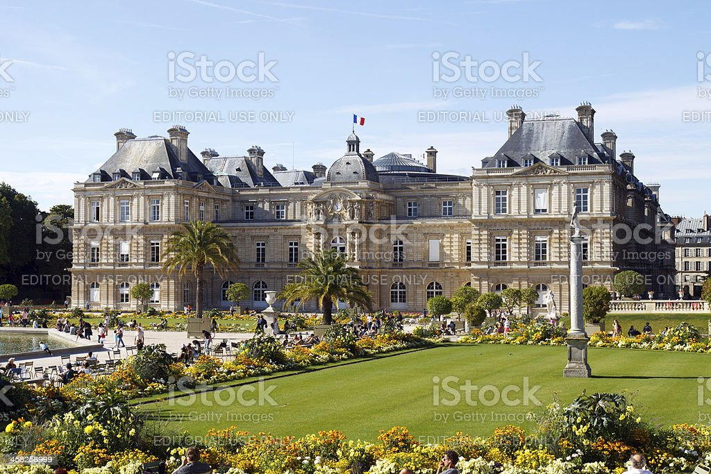 Luxembourg Gardens royalty-free stock photo