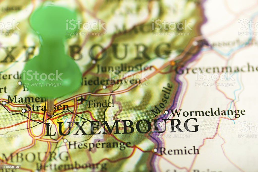 Luxembourg map royalty-free stock photo