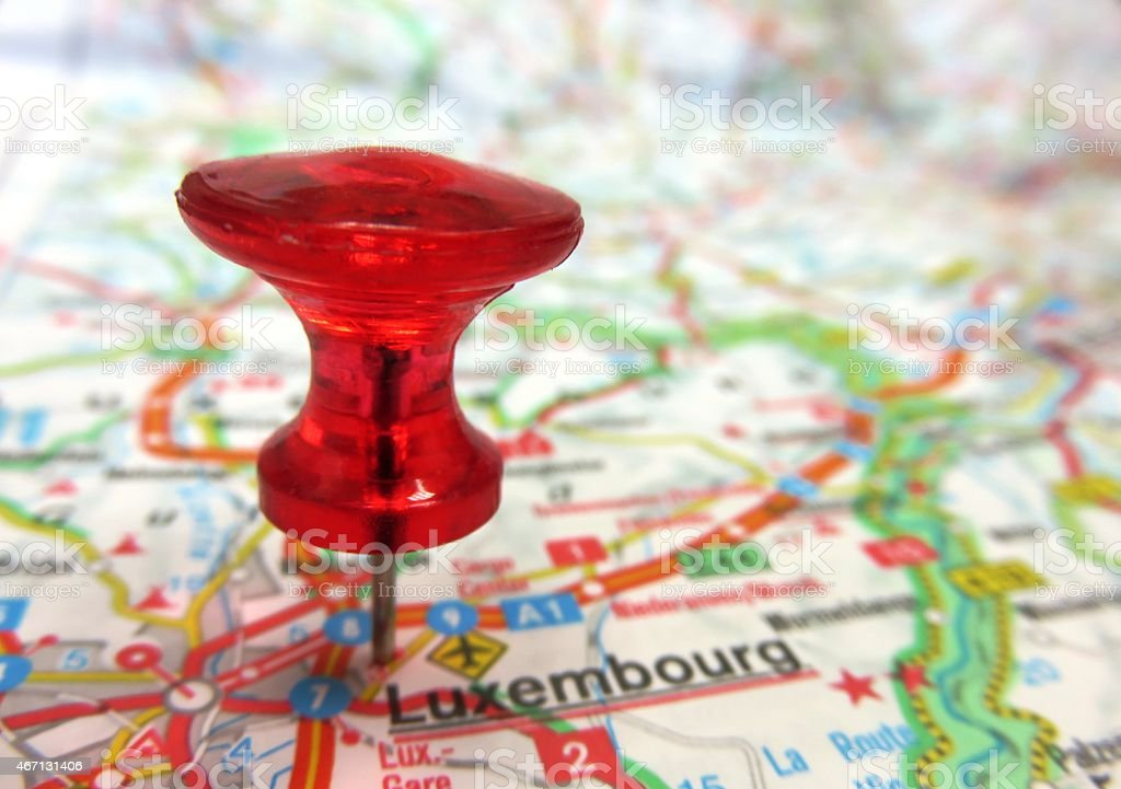 Luxembourg on a Map stock photo