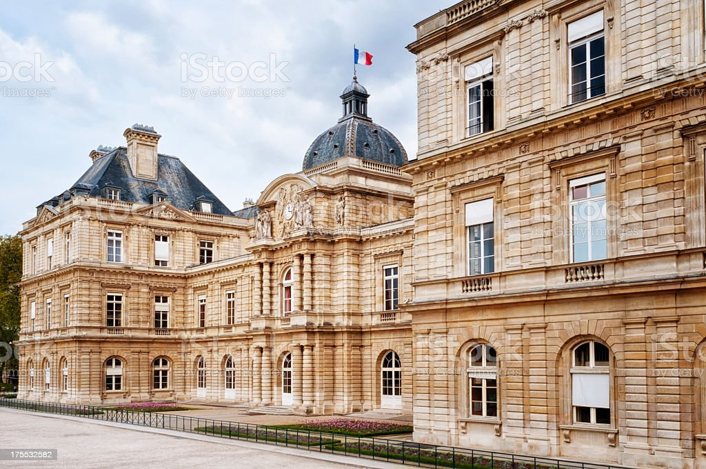 Luxembourg Palace in Paris stock photo