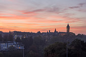 Luxembourg panorama at sunset