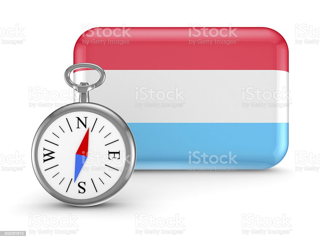Luxembourgian flag. royalty-free stock photo