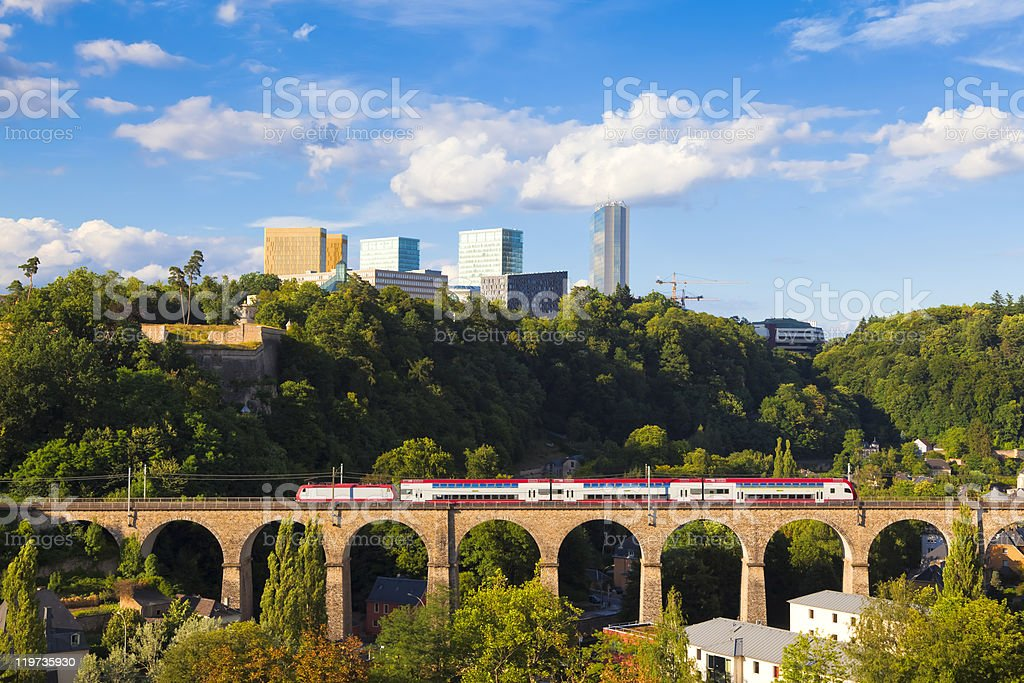 Luxembourg-Kirchberg stock photo