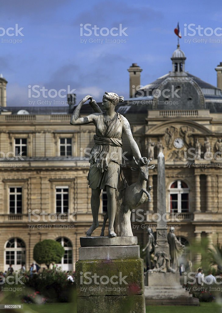 Luxemburg Gardens, Paris, France royalty-free stock photo