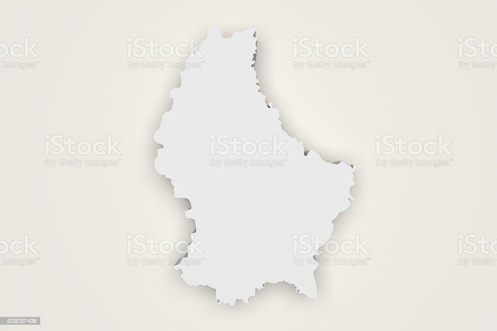 Luxemburg map stock photo
