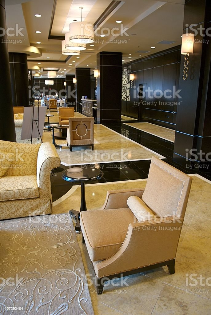 Luxery Hotel Lobby royalty-free stock photo