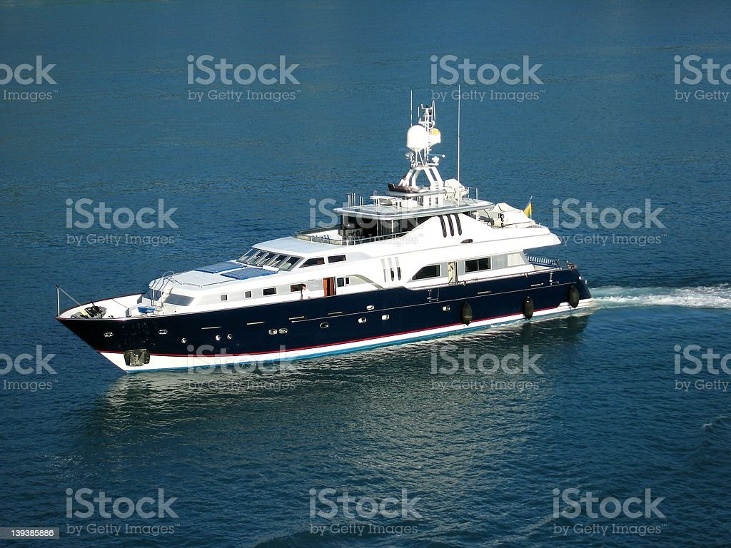 Luxery Yacht royalty-free stock photo