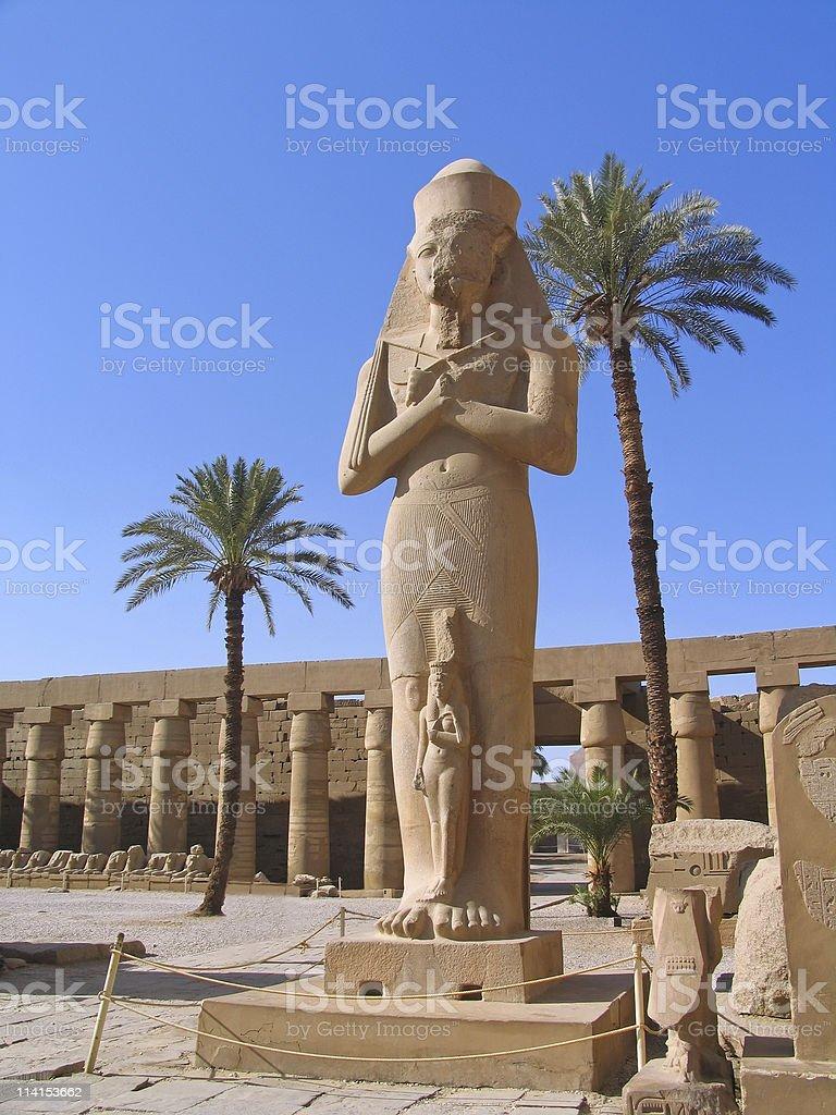Luxor, Egypt, Rameses II Statue royalty-free stock photo