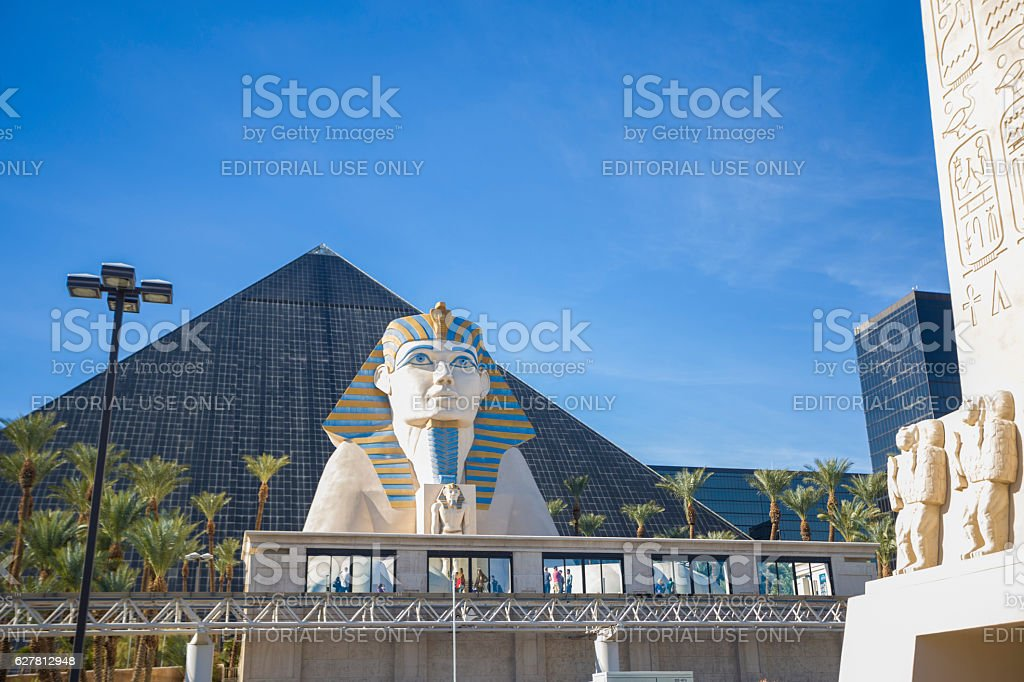 Luxor Hotel and Casino in Las Vegas stock photo