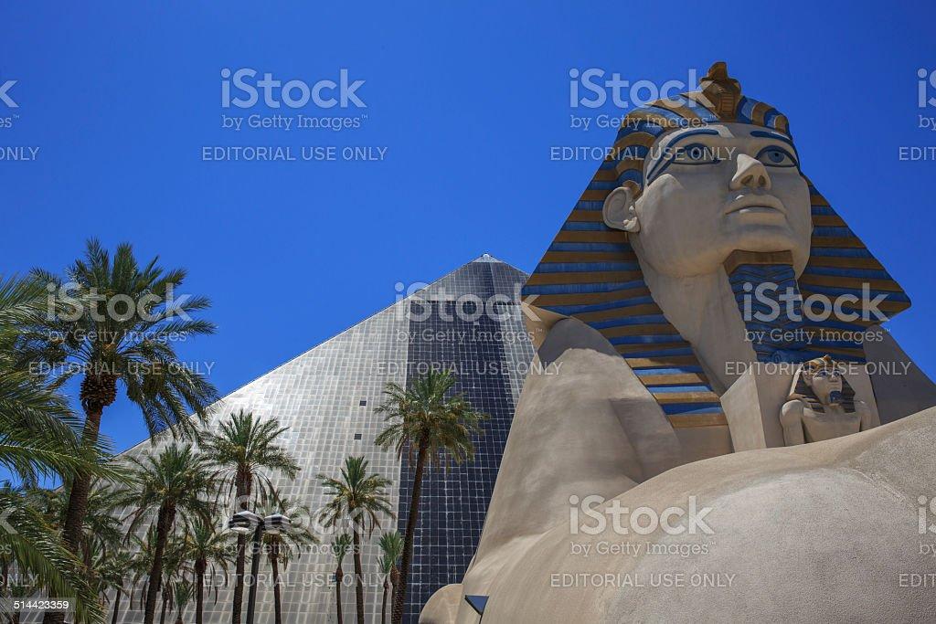 Luxor Hotel in Las Vegas, Nevada stock photo