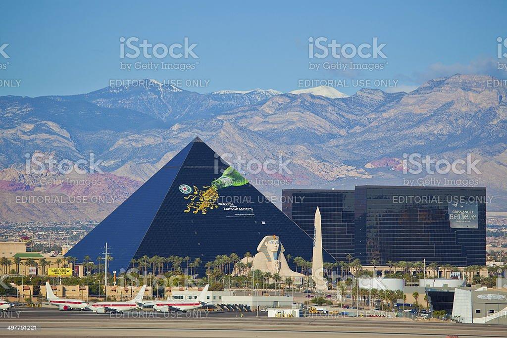 Luxor hotel on the Las Vegas Strip in Paradise, Nevada stock photo