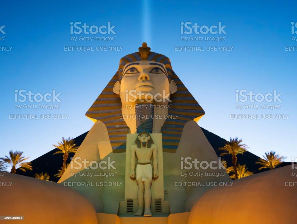 Luxor hotel Sphinx stock photo