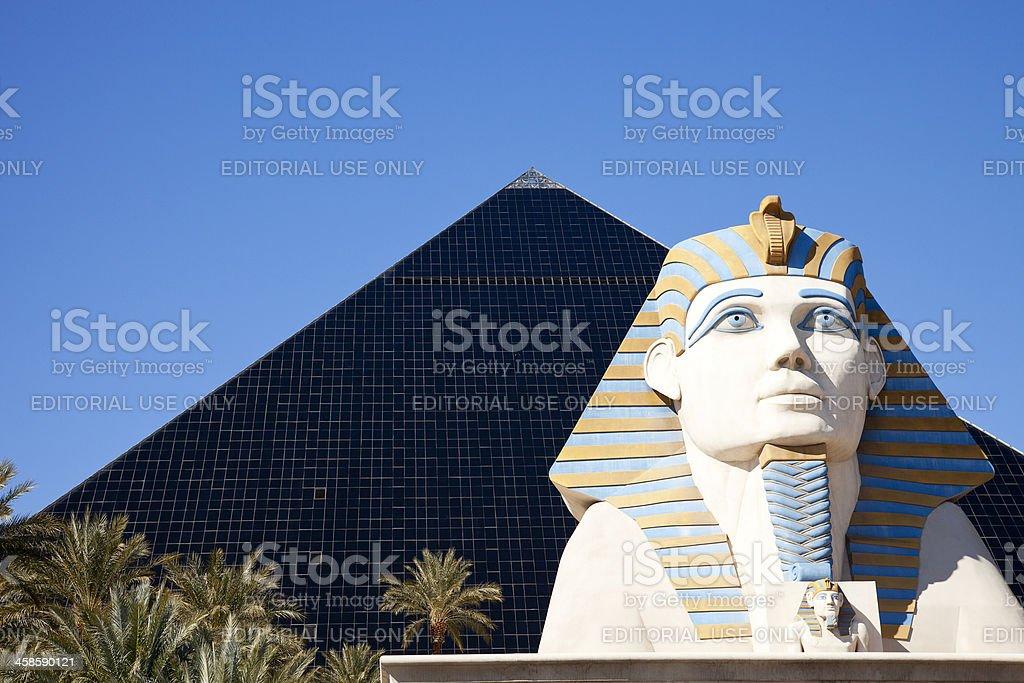 Luxor hotel-casino on Las Vegas strip stock photo