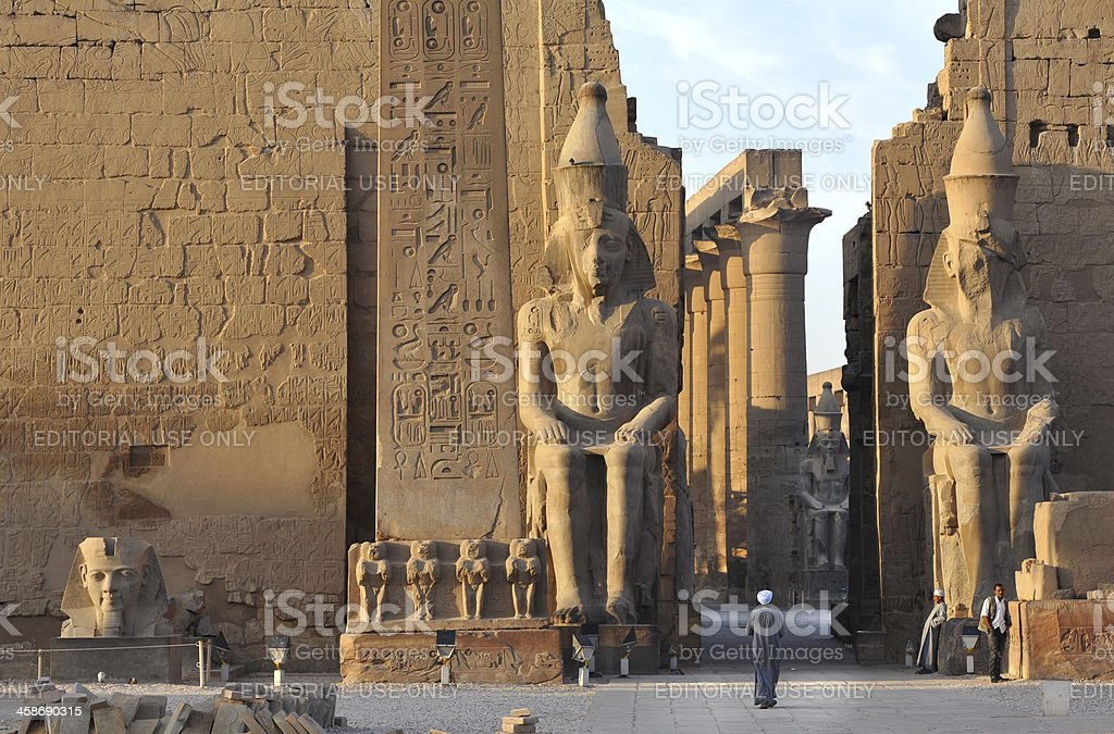 Luxor temple at dawn stock photo