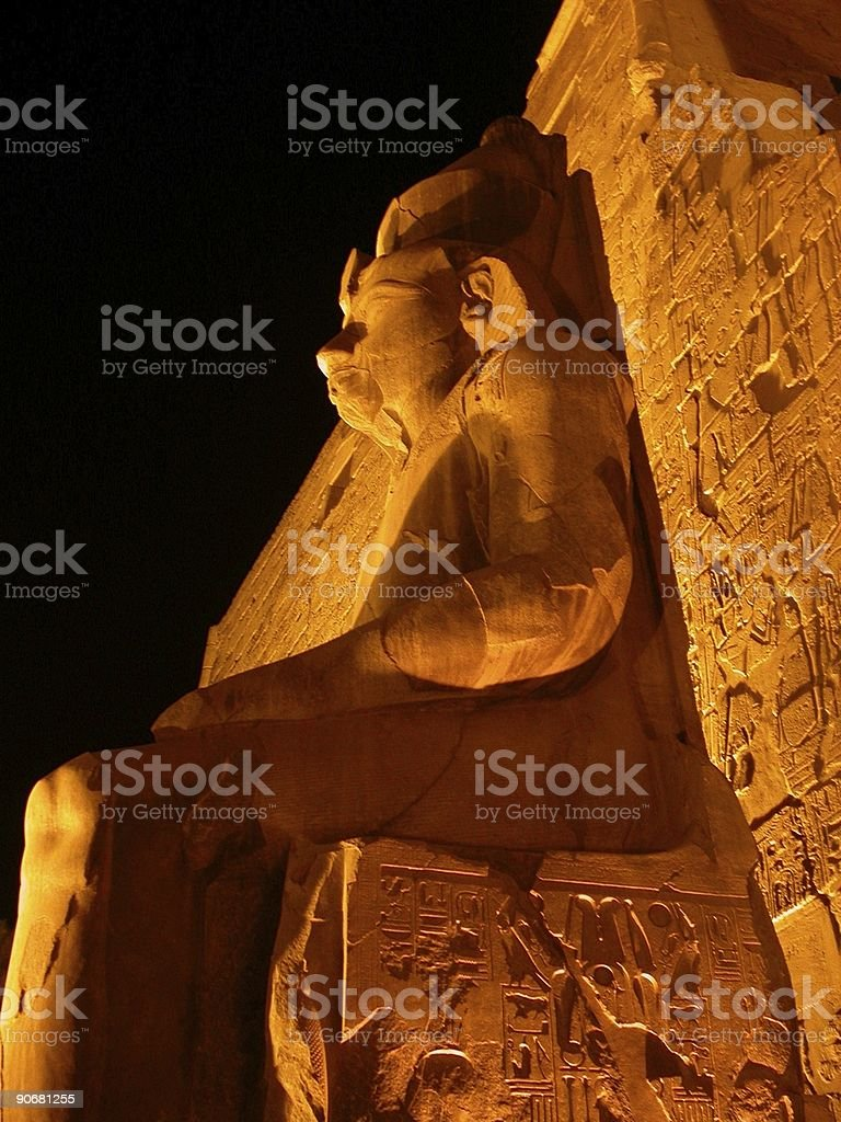 Luxor Temple at Night royalty-free stock photo