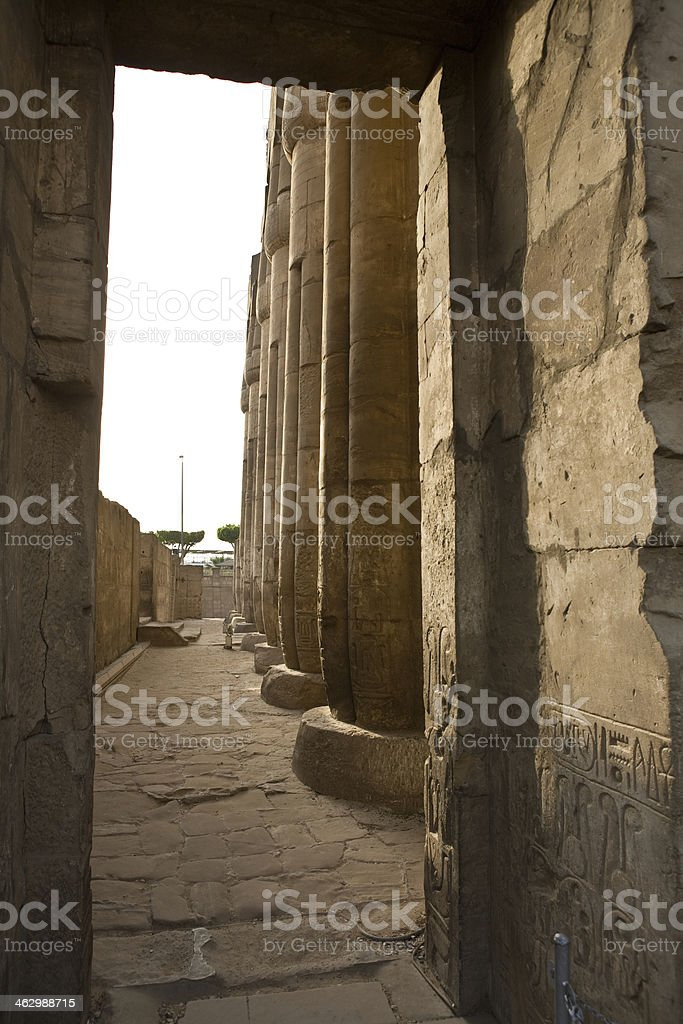 Luxor temple holy court stock photo