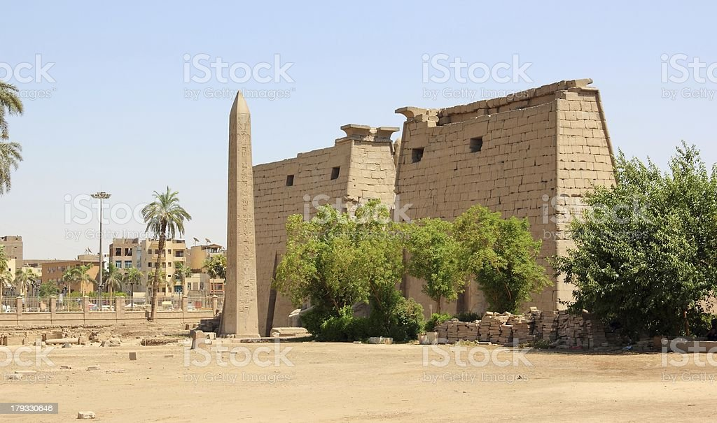 Luxor Temple (ancient Thebes). royalty-free stock photo