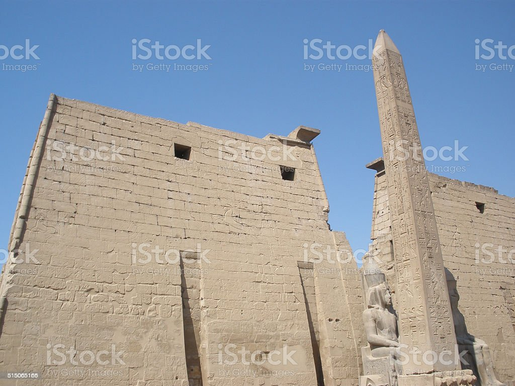 """Luxor:€"""" the ruins of the Central temple of Amun-RA stock photo"""