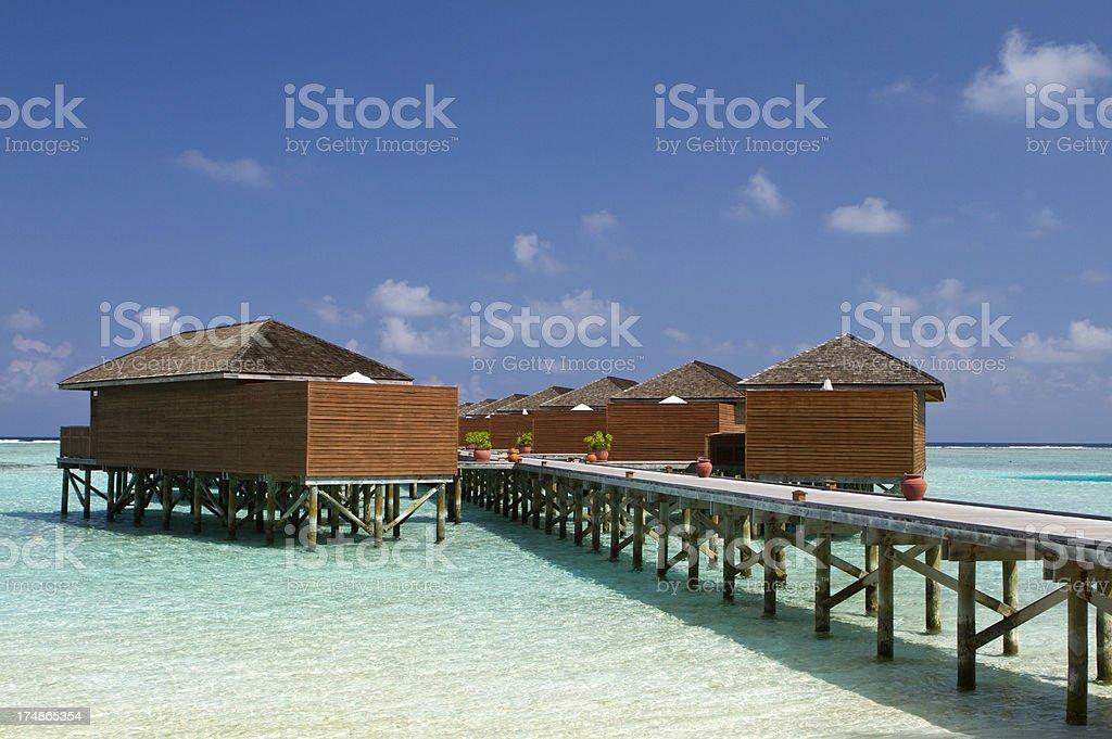 Luxrious resort on stilt royalty-free stock photo