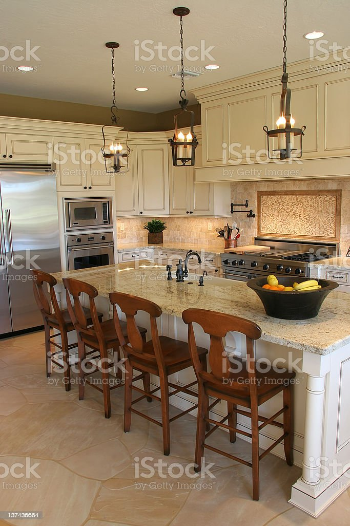 Luxuray Kitchen - Vertical royalty-free stock photo