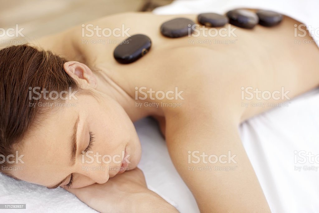Luxuriating in total spa bliss royalty-free stock photo