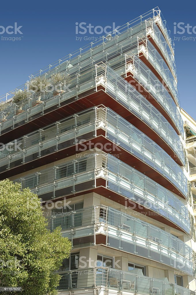 Luxurious Apartment Modern Building royalty-free stock photo