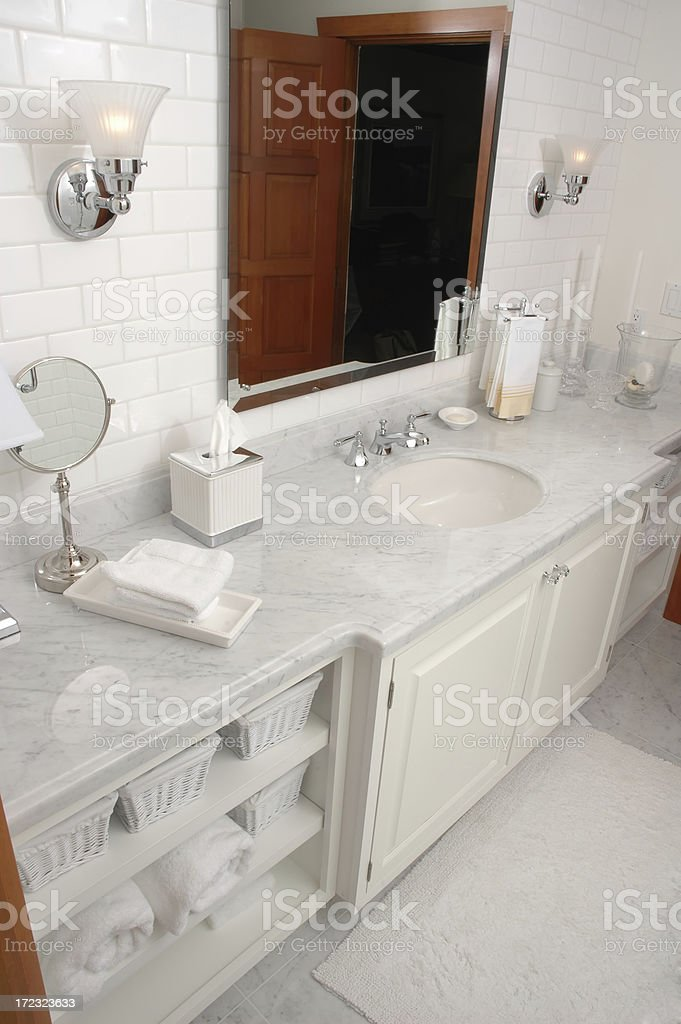 Luxurious Bathroom in High End Home royalty-free stock photo