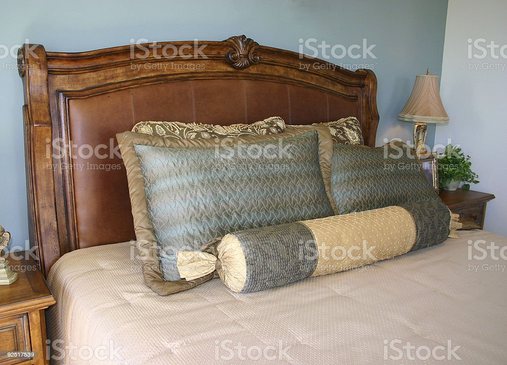 Luxurious Bed royalty-free stock photo
