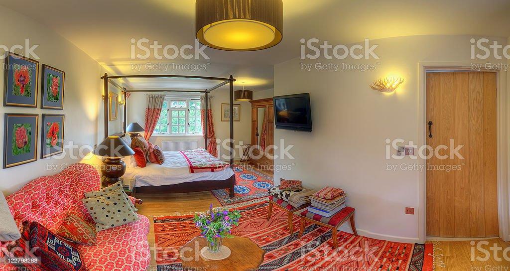 Luxurious bedroom royalty-free stock photo