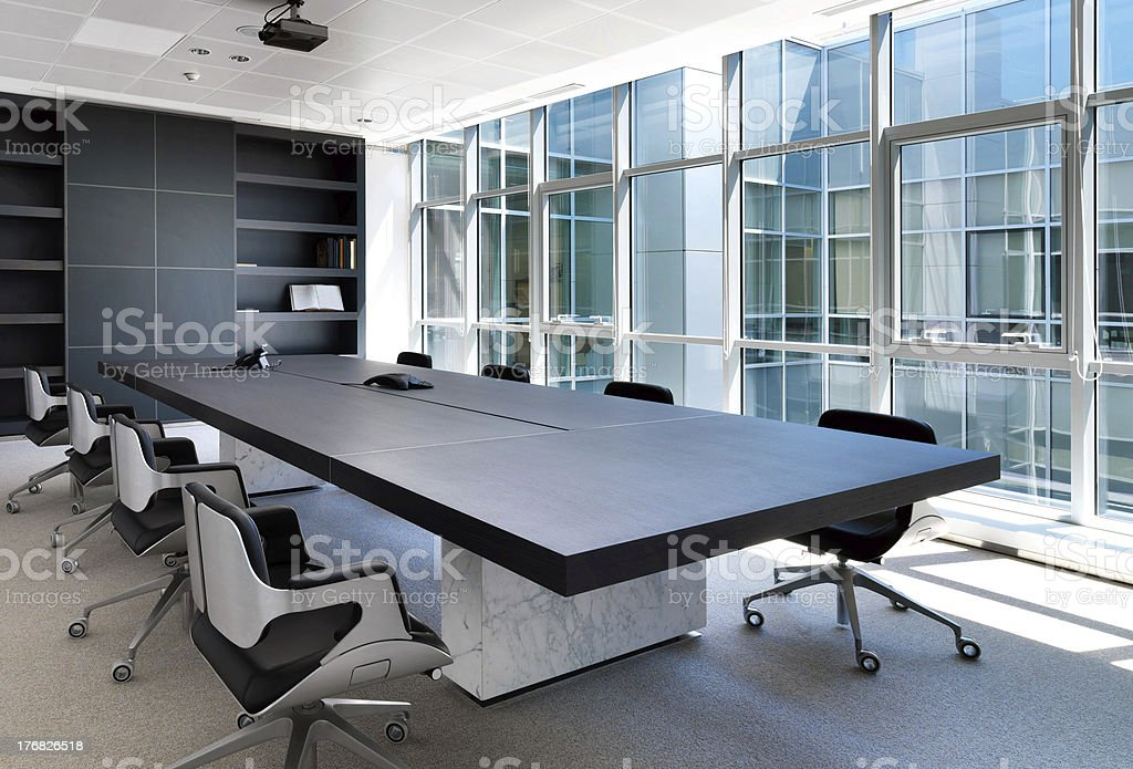 Luxurious board room stock photo