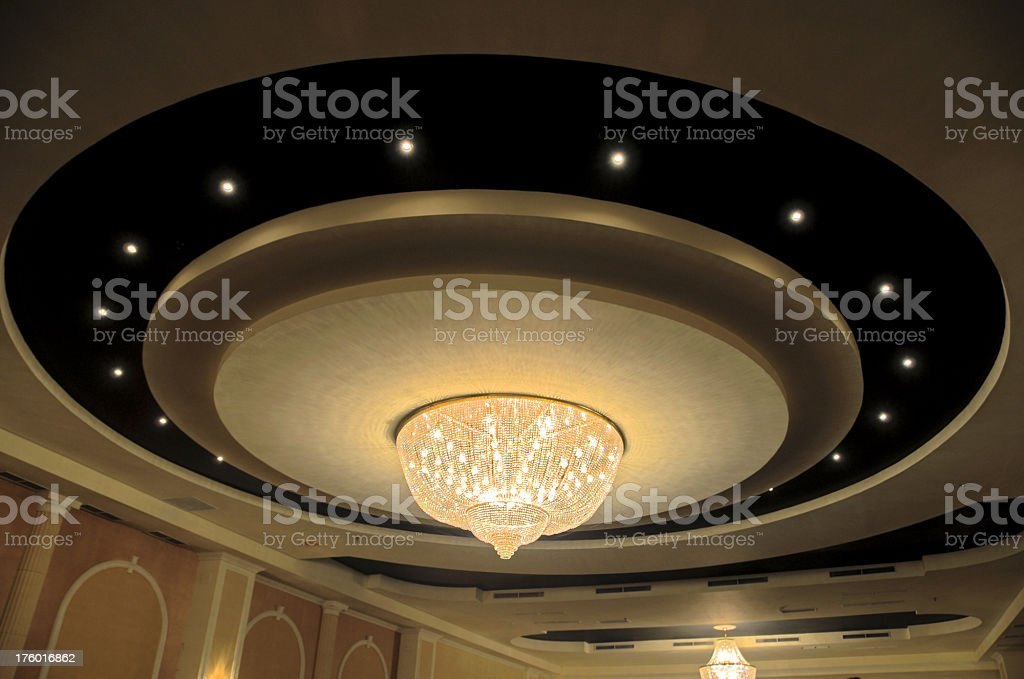 Luxurious chandelier stock photo