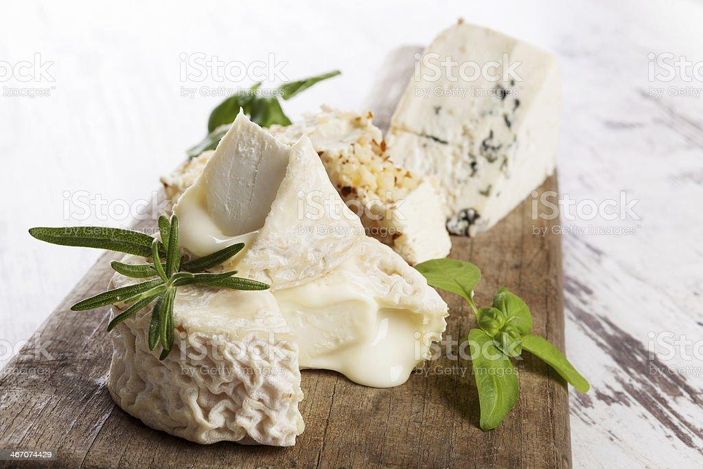 Luxurious cheese variation stock photo